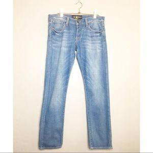 Lucky Brand Jeans Sienna Tomboy Crop Blue Sz 2/26